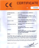 JW31-200 straight side press ce certificate