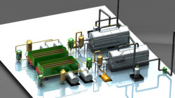 Plastic pyrolysis machinery Two reactor