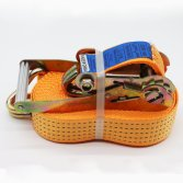 orange color polyester belt ratchet tie down