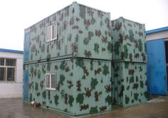 Georgian military camp welded container house