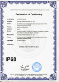 IP68 certificate of LED light bars