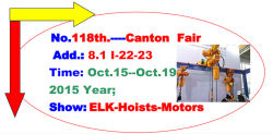 ELK Hoist Crane Canton Fair Exhibition Show