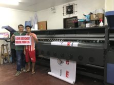 3.2M Solvent printer with Konica 512i 30pl printheads service in customer′s place overseas