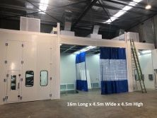 spray booth and preparation room assembled in Australia