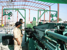 Installation of automatic chain link fence making machine in UAE