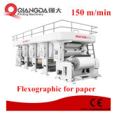 Flexographic printing machine for paper