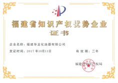 Fujian Province Intellectual Property Excellent Enterprise