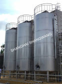 Large outdoors milk silo