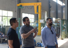jordanian customers visit the factory