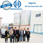 Algeria client visiting for 60T wheat mill line