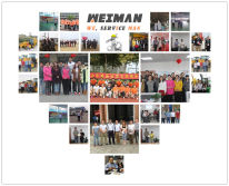 Customer visiting in Shandong Weiman for construciton machinery