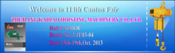2013 Canton Fair Invitation ----ELK Chain Hoists