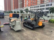 Crawler Drilling Rig and Diesel Screw Air Compressor for Road
