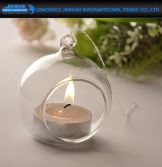 Crystal Hanging Glass Bauble Tea Light Candle Holder