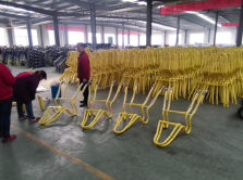 Wheel barrow frame workshop