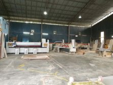 woodworking cnc panel saw machine MJ-330A finished installation in Malaysia