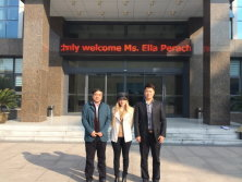 Welcome Israel customer visiting Shanghai Reliance Alu Co.,Ltd