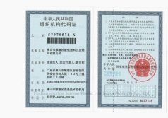 Organization Code Certificateof The People′s Republic of China Code