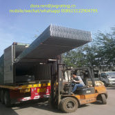 loading process of steel grating container