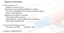 Our Company Bank Account for TT, Paypal and Western Union