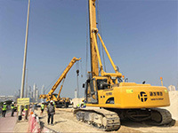 HF168A Rotary Drilling Rig In United Arab Emirates construction