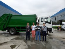 Customer Visiting for Garbage Truck