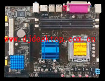 Factory price GS45 -775 socket motherboard with 2 SATA and 4 USB
