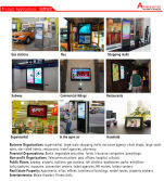 What are the applications of the Layson advertising digital signage?