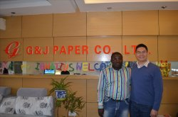 Our nice customer from Ghana vist G&J PAPER