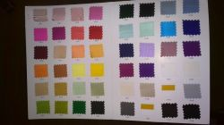 100% Silk Color Swatches for Wedding Dress Evening Party Prom Dress