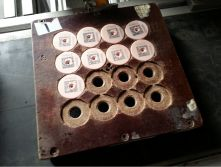 Ear tag production mould