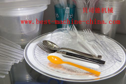 household plastic spoon fork knife products made by best machine