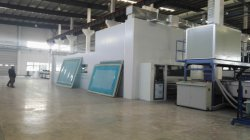 Printing machine(outside) for oversize silk-screen printing glass more than 8meters