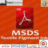 MSDS for Textile Pigment Inks