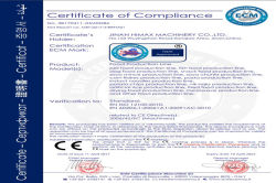 CE certificate for food machine