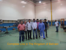 Our engineers installed machines in customer′s Water Plant in The Kingdom of Bahrain