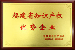 2013.8-2016.8 Intellectual Property Advantage Enterprises in Fujian Province