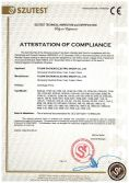 CE Certificate of Centrifugal Pump
