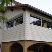 Can the exterior wall panels bear the rain water without damage or deterioration of the panels?