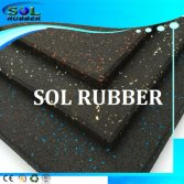 CE Certificated High impact Gym Rubber Flooring