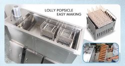 6 molds ice lollipop making machine