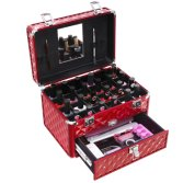 Beauty Travel Makeup Suitcase Tiered Magnetic Cosmetic Bag Train Case