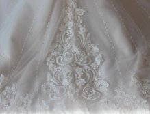 2017 New Wedding Dress Lace Fabric Hand Sew Beading Bridal Gowns Supplier Factory