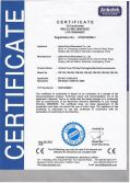 CE Certificate for VFFS packing machine