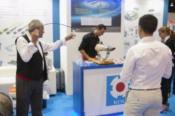 KOC booth of 20th ECOC 2015 Exhibition