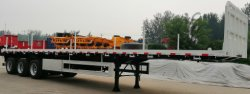 Flatbed container trailer exported to Oceania 2019.08