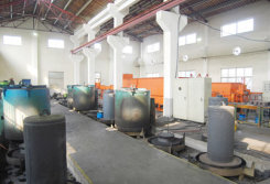 Sintering plant of bell-jar furnace