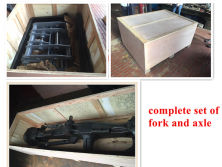 Deliver complete set of fork and axle to Kazakhstan