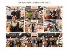 Thousands of customers visited us