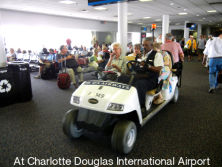 Suzhou Eagle′s Golf People Mover Used in Charlotte Douglas Internationa Airport